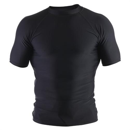 Clinch Gear Clinch Gear Basic Black Rashguard - Short Sleeve